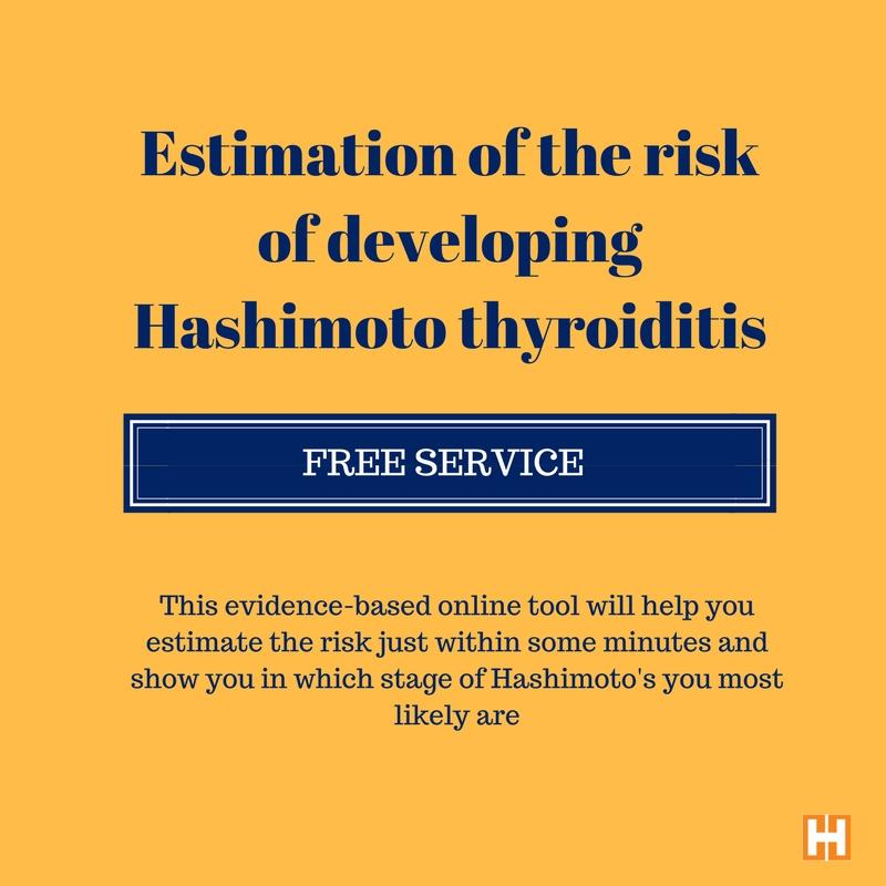 Estimation of the risk to develop Hashimoto thyroiditis (9) -